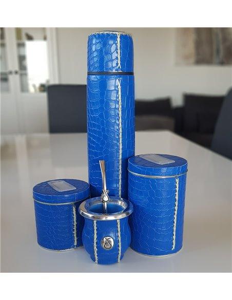 Kit Mate Sabio Croco Azul